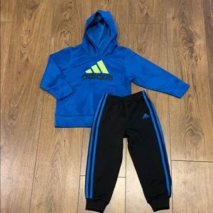 Adidas Hooded Sweatshirt and Pant, Boys Size 4T